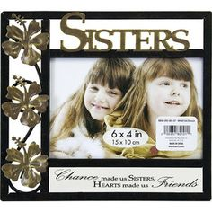 Expressions Wrought Iron Sisters Photo Frame Set, Tuscan Bronze with New Bronze Accents