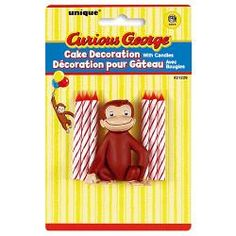 Curious George Cake Decoration with 6 Candles$3.99