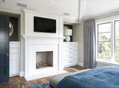 Bedroom fireplace wi
