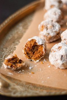 We'd make these for an autumn potluck - Pumpkin Pecan Polvorones (Mexican wedding cookies) from Cookie + Kate