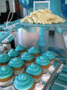 Treats at a Tiffany's Party  #tiffanys #party