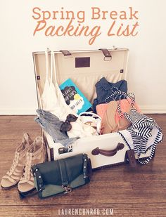 Lauren Conrad's Spring Break Packing List #packing #travel #sprinbreak