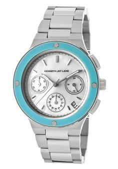 Women's Chronograph White Mother Of Pearl Dial Stainless Steel