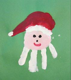 Santa Claus Handprint.  Saint Nicholas fun!  #christmas crafts for kids.