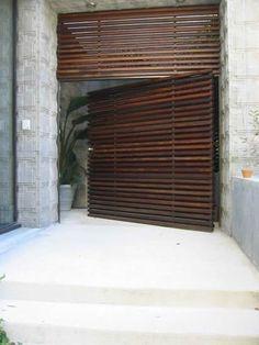 Beautiful horizontal wooden slats. UrbanCraft #modern #architecture #wood