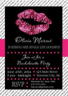 Lips Bachelorette Party Invitation