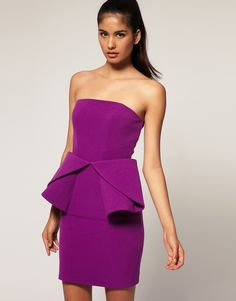 purple peplum LOVE