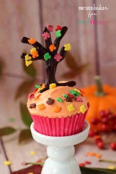 Pint Sized Baker: Falling Leaves Cupcakes