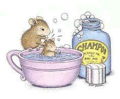 Mouse House bath time