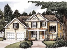 Home Plans HOMEPW11075 - 1,902 Square Feet, 4 Bedroom 3 Bathroom Country Home with 2 Garage Bays