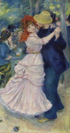 """Dance at Bougival"" in 1883 by Pierre Auguste Renoir (Limoges 1841 - Cagnes-sur-mer 1919)."