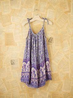 Vintage blue indian gauze dress
