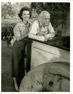 """Jan Clayton and George Cleveland as Ellen and George """"Gramps"""" Miller"""