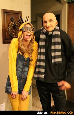 Halloween costumes: Minion y Gru... all the kids could be MINIONS & Daddy could be GRU!