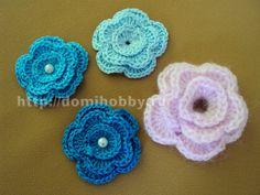 вязание цветка крючком 2