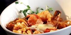 Lobster Shrimp and Crab Fettuccine