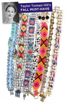 DIY: Friendship Bracelets with Rhinestones