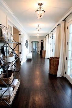 flooring wood, diy wood flooring, country houses, dark brown wood floors, floors wood, espresso floors, diy wood floors, hallway, dark floor stain