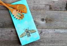 How to make these cute bee towels