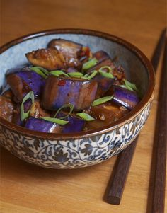 "Sichuan Eggplant: Yu Xiang Qiezi or ""fish-fragrant eggplant"" (there is no fish in the dish). This was my favorite dish when I lived in China!"