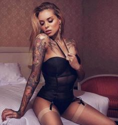 Tattooed Model Arabella Drummond