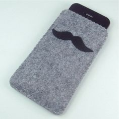 I have a great idea for a craft: moustache phone sleeve! But instead of sewing we use fabric glue or hot glue guns!