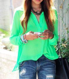 Bright neon top