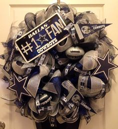 Dallas Cowboys Wreath dallas cowboys wreath, dallas cowboy wreaths, pretti wreath, sport wreath, dalla cowboy