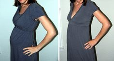 Use old clothes to make maternity clothes
