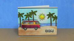 Weathered Postcard   Mahalo