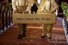 Here Comes The Bride  And They Lived Happily by purdyworkscrafts, Etsy.com