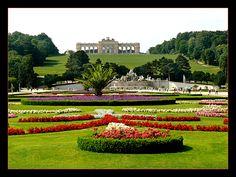 """Schonbrunn Palace (Vienna Austria)  """"backyard gardens"""""""