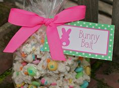 Bunny Bait.....Easter popcorn~made this with my students and it turned out very cute! Super easy to do and fun :)