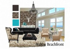 Malibu Beachfront  e-Decor at www.suburbanrevival.com beachfront edecor, malibu beachfront, beach styles