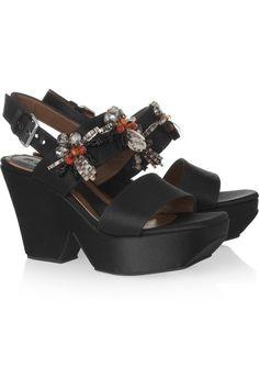 Marni crystal-embellished sandals