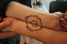 matching tattoos | Tumblr