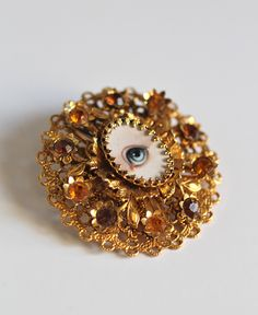 mysteri eye, lover eye, eye portrait, brooch