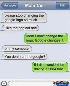 Humor text mess