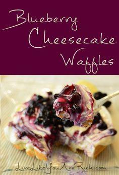 blueberry cheesecake waffles #BabyCenterBlog