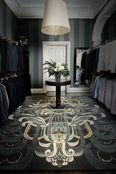 Carpet in the closet by Catherine Martin #interiordesign