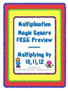 FREE Multiplication Magic Square Puzzle!