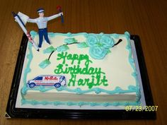 Happy Birthday!   Everyone wants a plumber on their cake :)