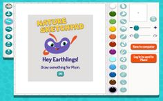Did you know that you can use our new Nature Sketchpad tool to draw pictures and send them to Plum? Your kids will love drawing pictures to complete Plum's missions. Try it today: http://pbskids.org/plumlanding/games/nature_sketchpad/index.html @Patti Stamp Teachers @Patti Stamp LearningMedia @Patti Stamp #PBSKIDS #PLUMLANDING #nature #elementary #sketch #artists #art #drawing stamp teacher, pbskid, patti stamp, plum land, pbs kid