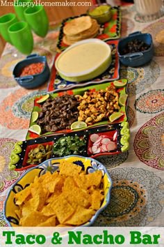 Taco  Nacho Bar - the perfect way to explore a little Mexican cuisine. Great for a family dinner and entertaining too! #tastemakers #sponsored