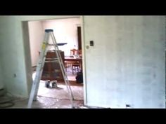 I had trouble finding any videos on how to fill the cracks in old style paneling. We had a dark wood type of paneling downstairs and I HATE wood paneling....now REAL wood paneling I can deal with but not the fake wood paneling. You find this a lot in older homes. In our case this house had survived a flood in the 80s so the previous owners repla...