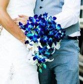 for vane Blue Orchid Bouquet Wedding Bouquet