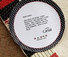 Custom Letter To Santa Plate by sweetwaterscrapbook on Etsy,