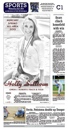 Owen J. Roberts' Holly Sullivan is named All-Area Athlete in track & field for spring 2013 by The Mercury. http://www.pottsmerc.com/article/20130702/SPORTS01/130709843/ojr-s-sullivan-is-all-area-girls-track-athlete-of-the-year