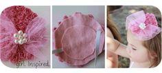 so cute and great idea for tea party hats tea parti, baby headbands, flower headbands, diy derby hats, kentucky derby hats, party activities, parti hat, diy tea party hats, felt flowers