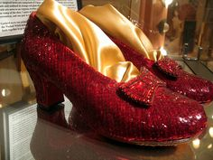 Judy Garlands shoes for the Wizard Of Oz